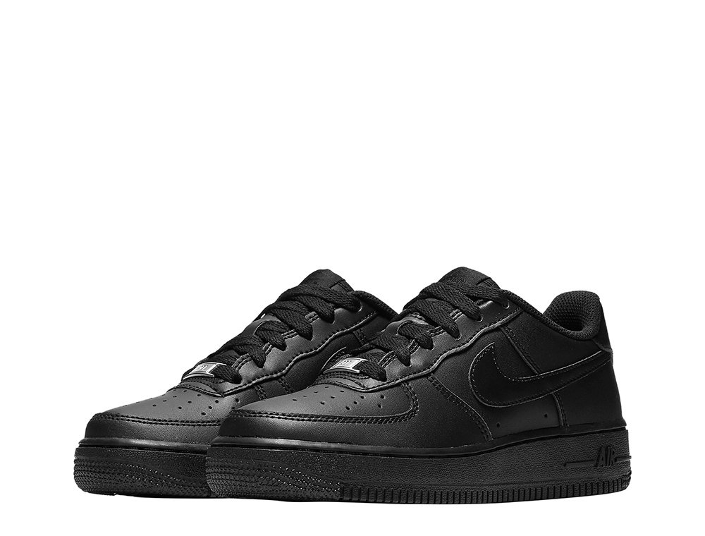 """nike air force 1 low (gs) """"all black"""""""