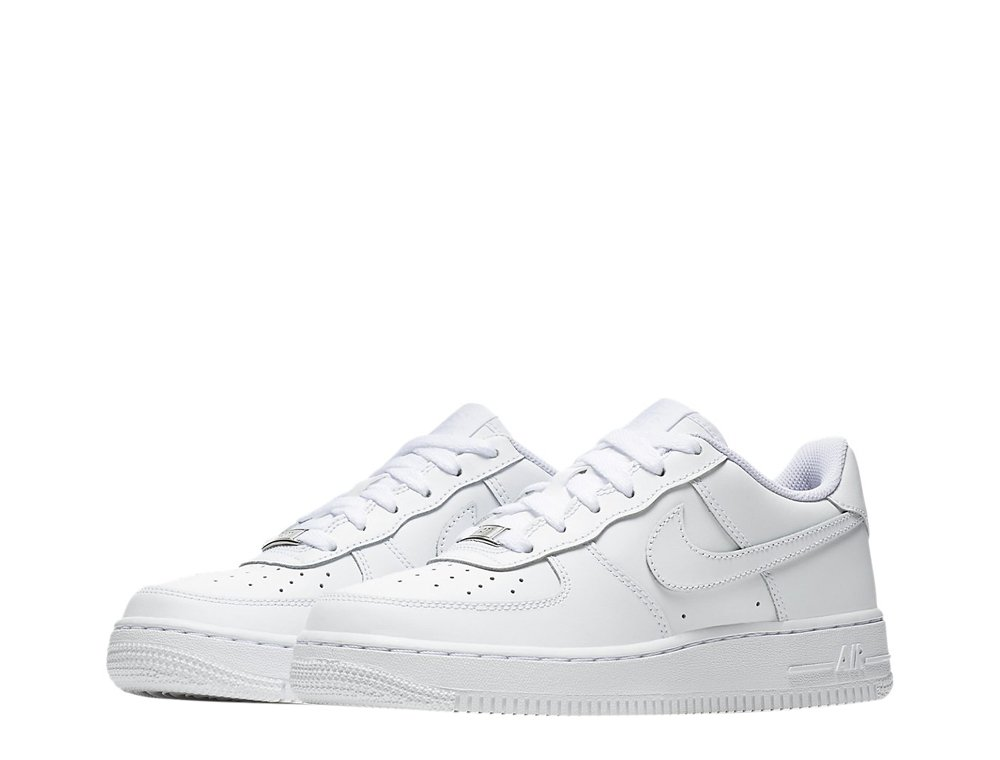 "nike air force 1 low (gs) ""all white"" (314192-117)"