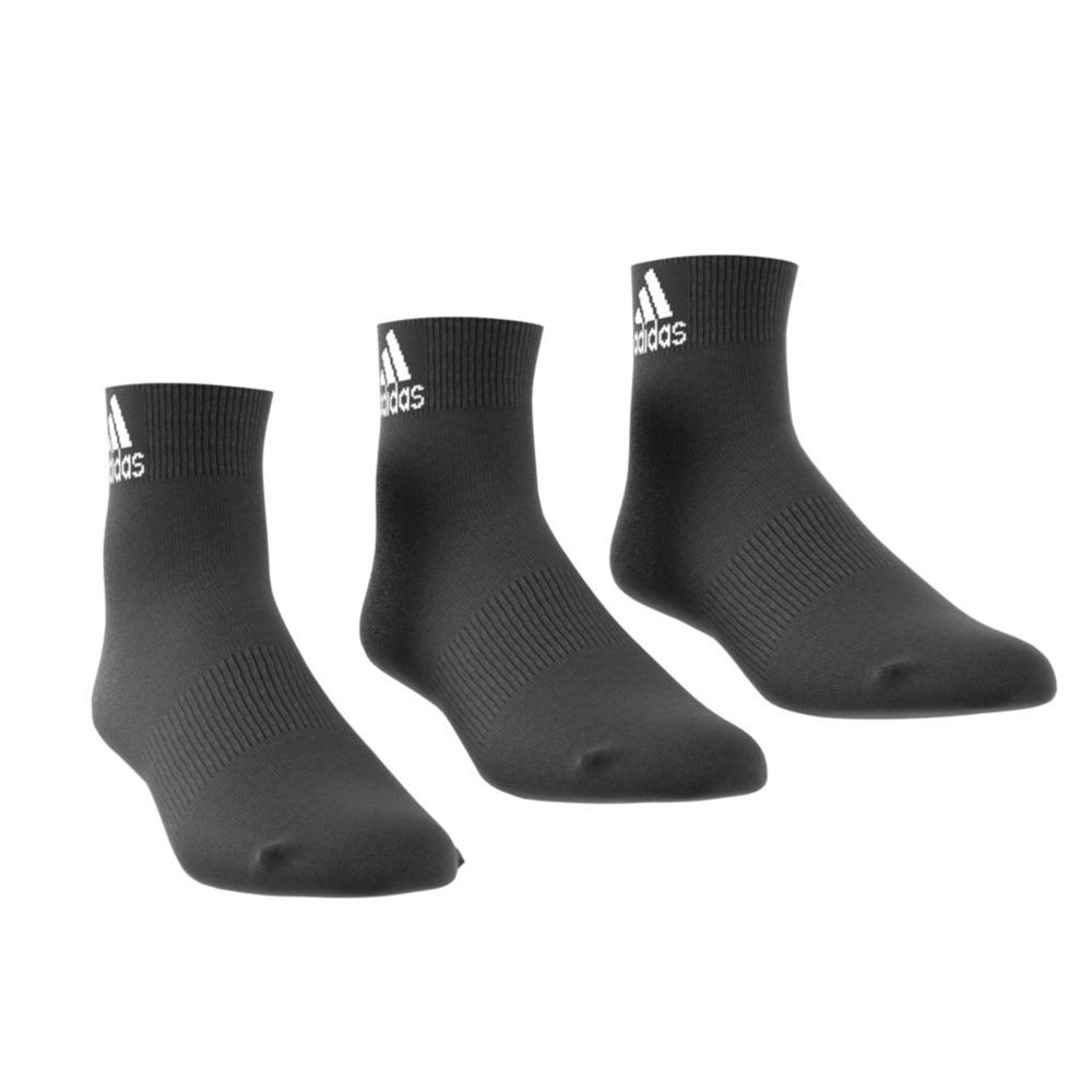 adidas performance thin ankle socks 3 pairs czarne