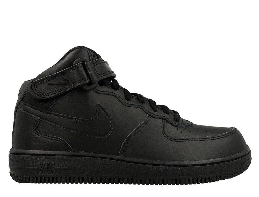 nike force 1 mid (ps) black