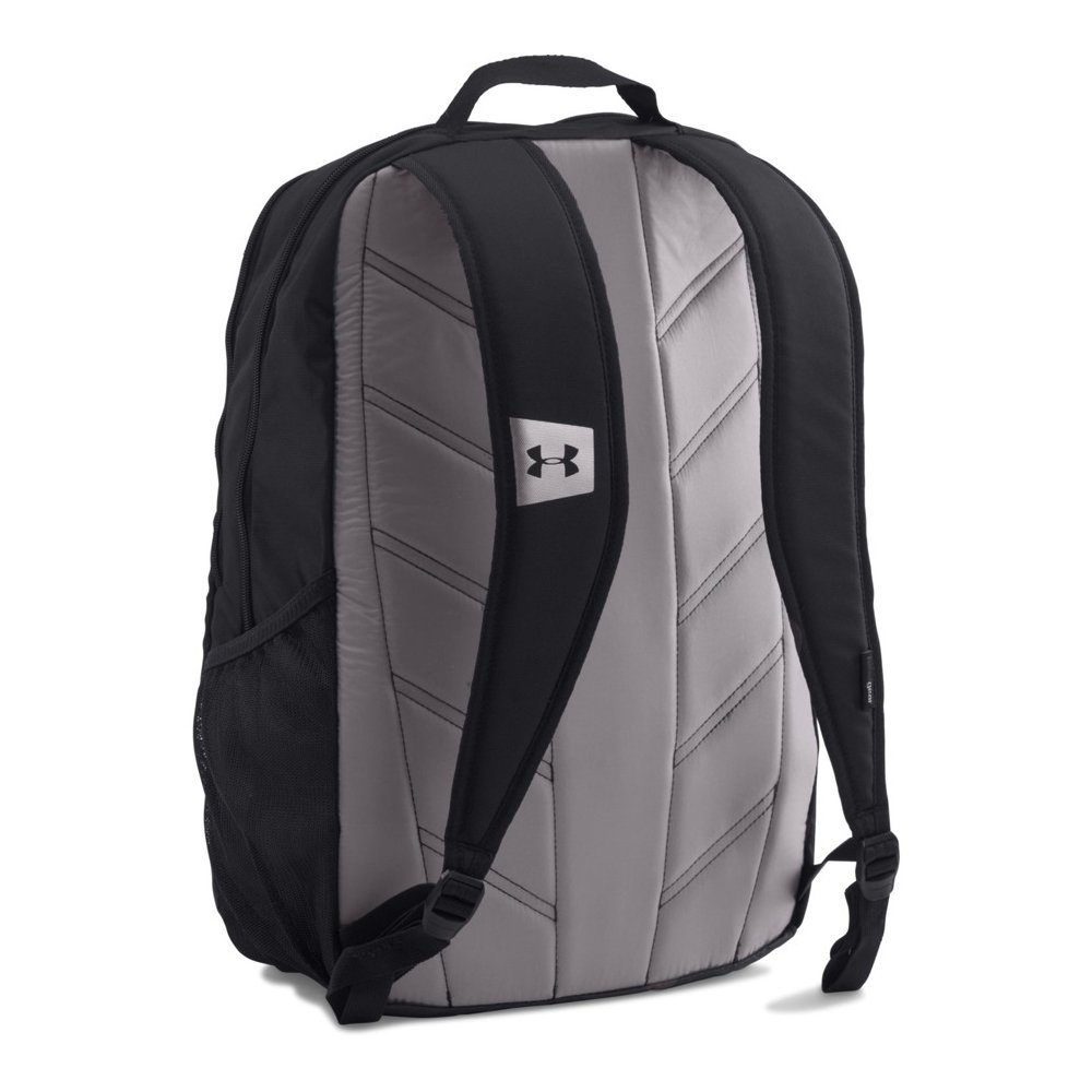 under armour hustle backpack ldwr - blk/blk/slv