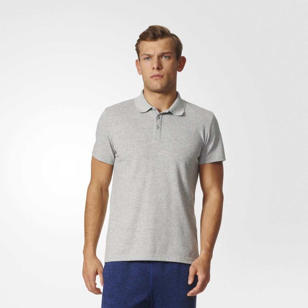 adidas essentials basic polo shirt męska szara