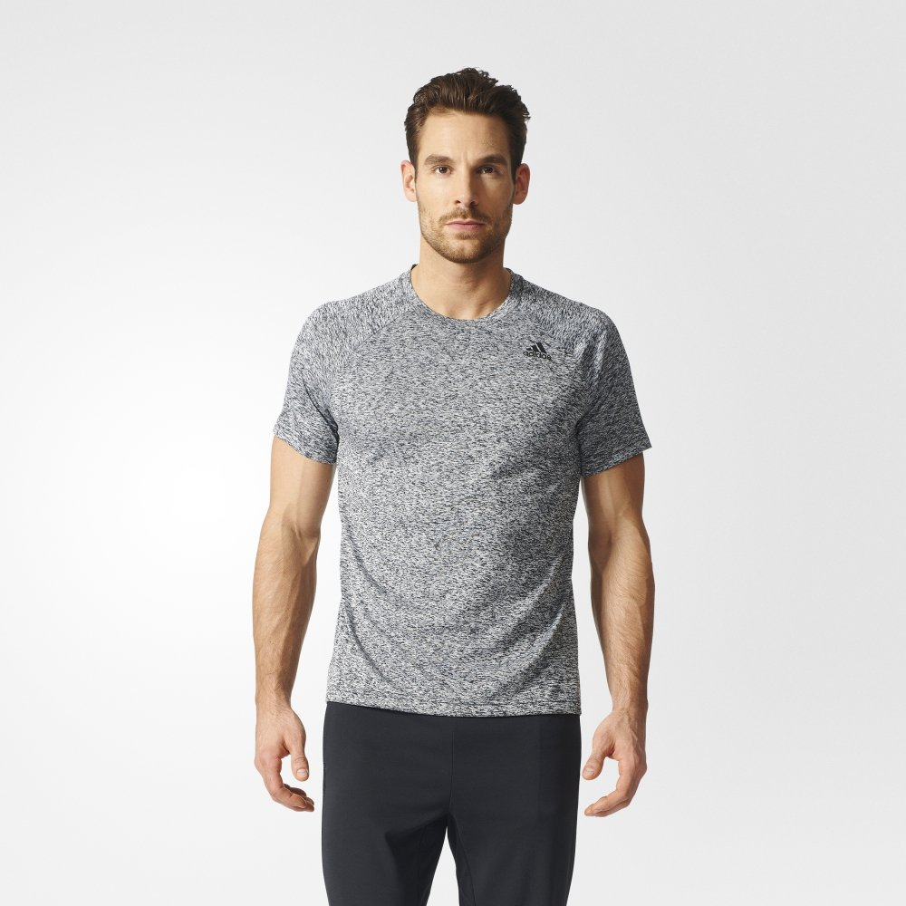 adidas d2m heathered tee grey