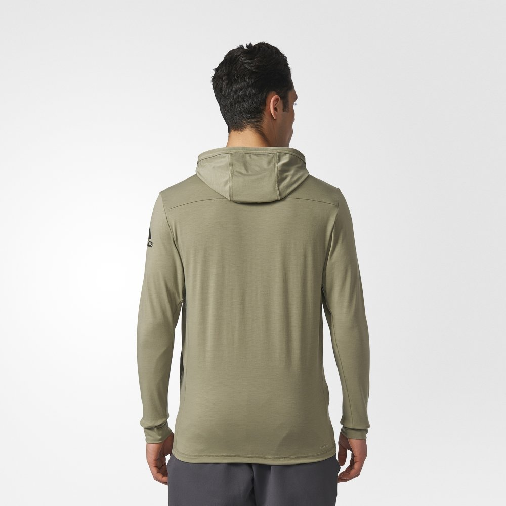 adidas hooded workout track jacket green