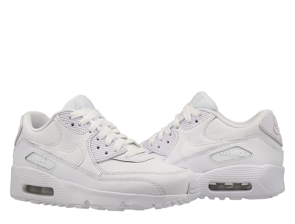 nike air max 90 leather (gs) białe