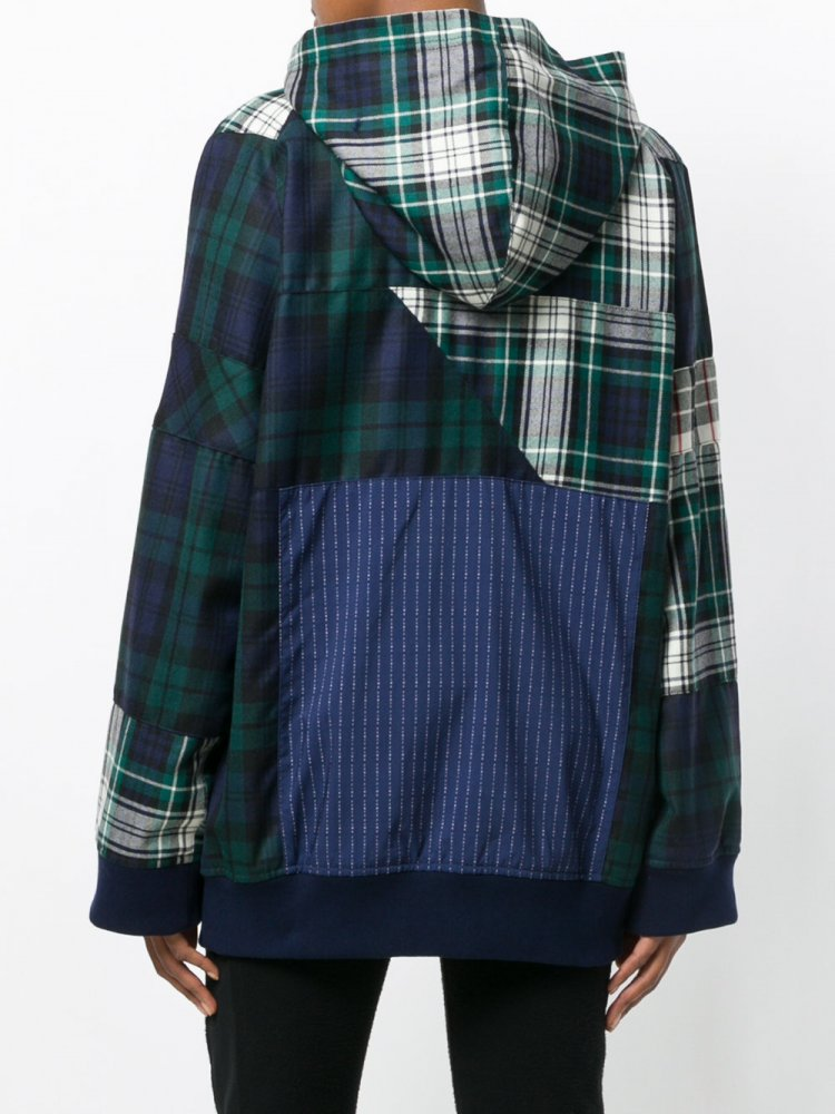 puma x fenty plaid patched hood pullover (57584101)