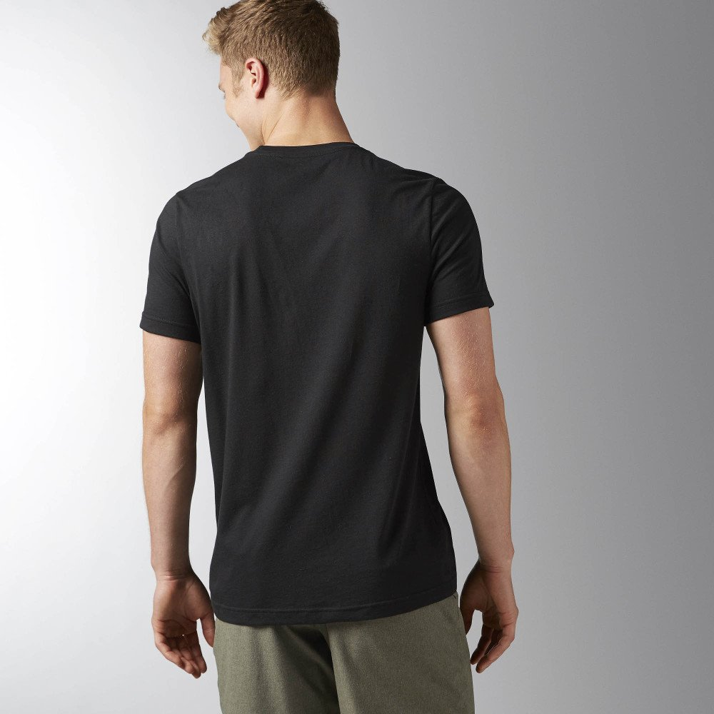 reebok element classic tee black