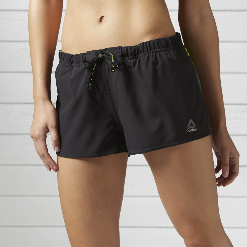 reebok one series running printed board short damskie czarne