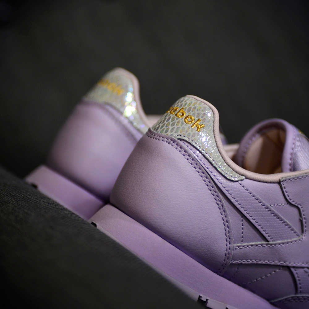 reebok classic leather metallic purple