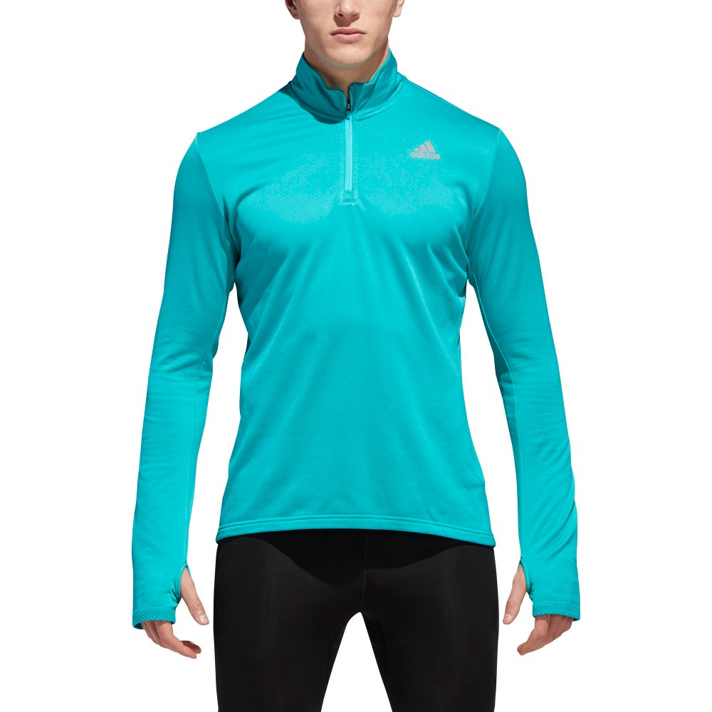 adidas response climawarm 1/2 zip men blue