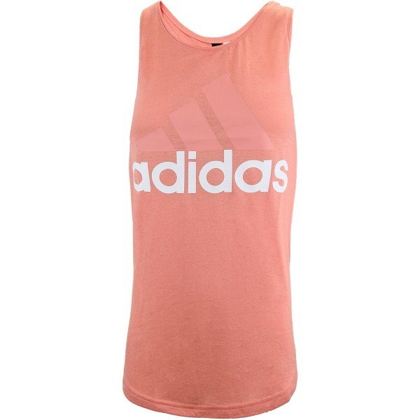 adidas essentials linear loose tank top pink