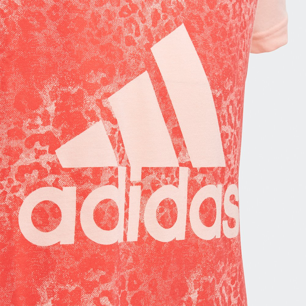 adidas essentials logo in the box tee pink