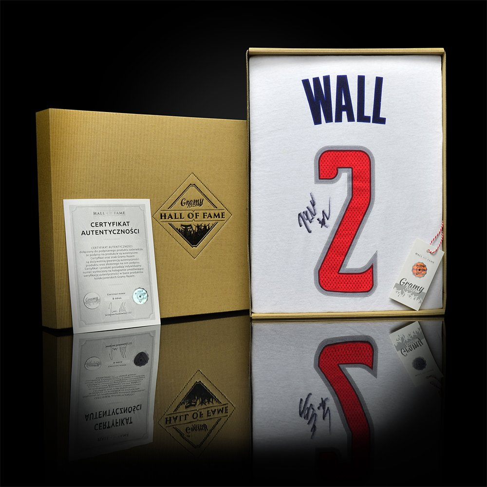 koszulka adidas washington wizards #2 z autografem johna walla (b0044)