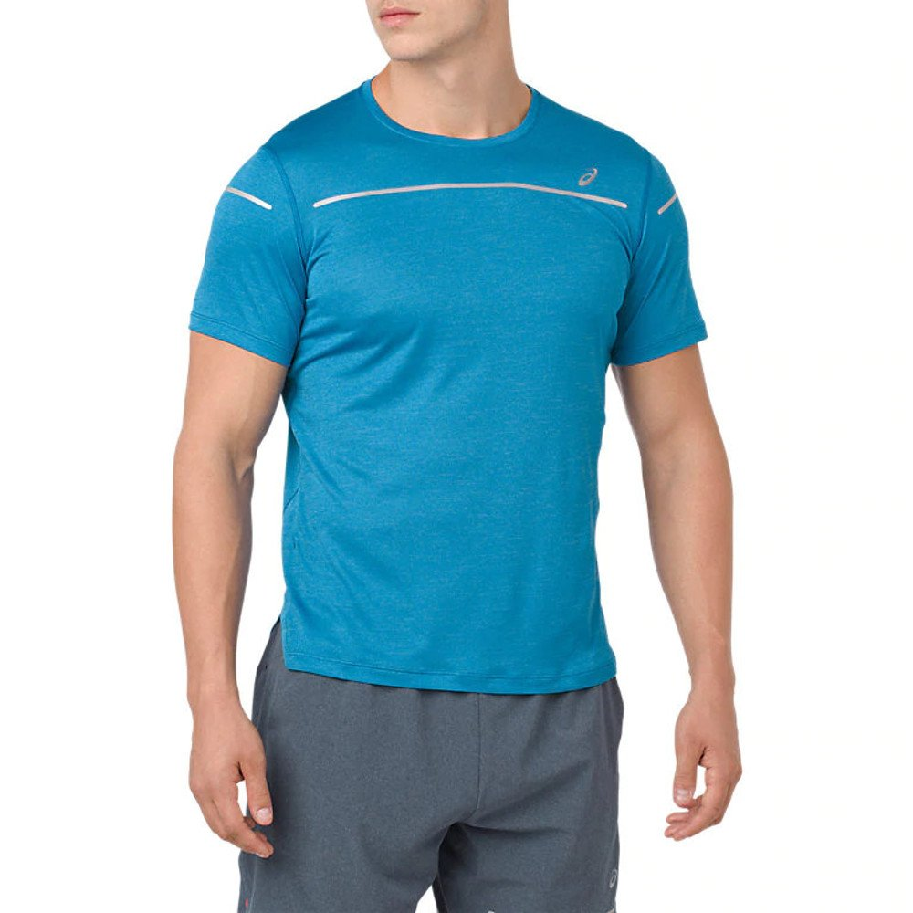 asics lite-show short sleeve top blue