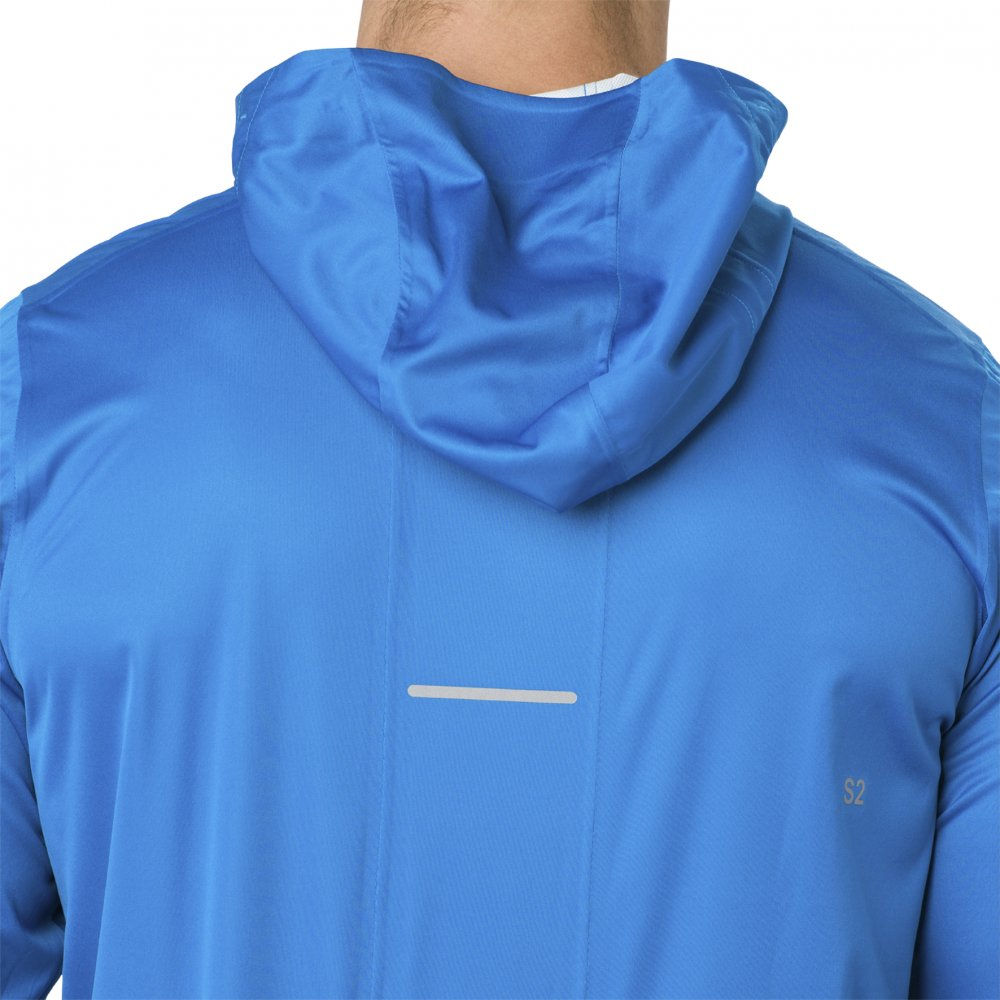asics accelerate jacket race blue