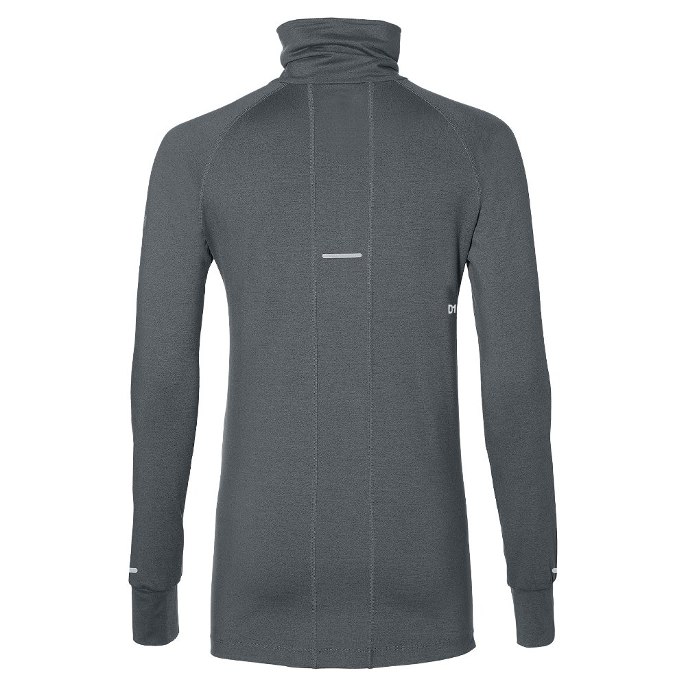 asics thermopolis long sleeve half zip w szara