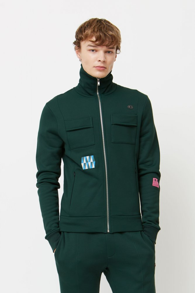 champion by wood wood tony full zip sweatshirt (212660-gs542)