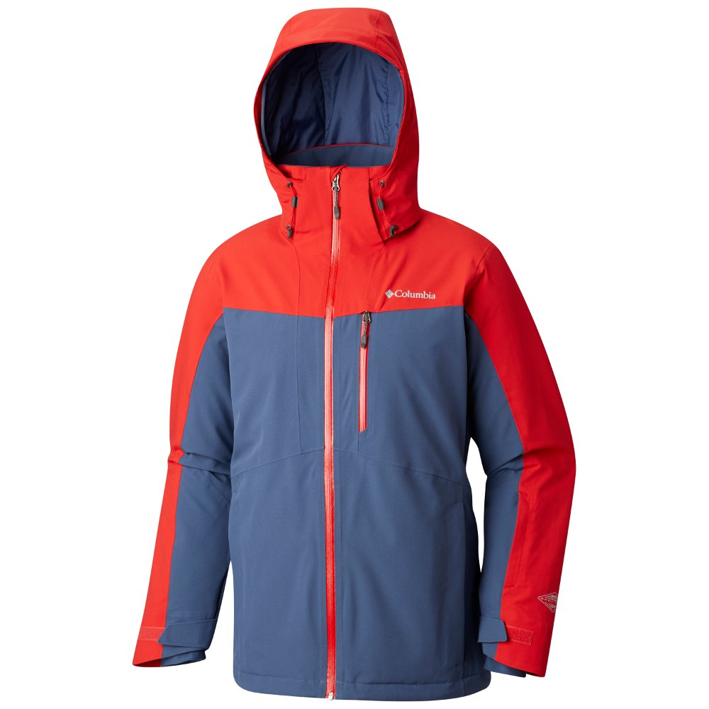 columbia wild card insulated waterproof jacket m czerwono-szara