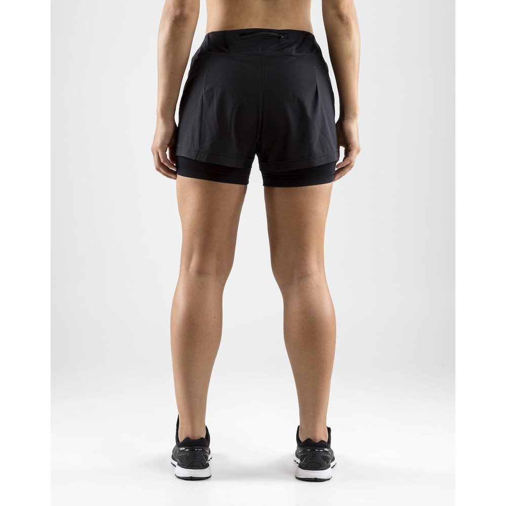 craft essential 2-in-1 shorts w czarne