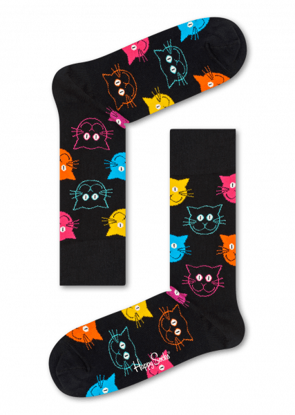 happy socks cat sock (mja01-9001)