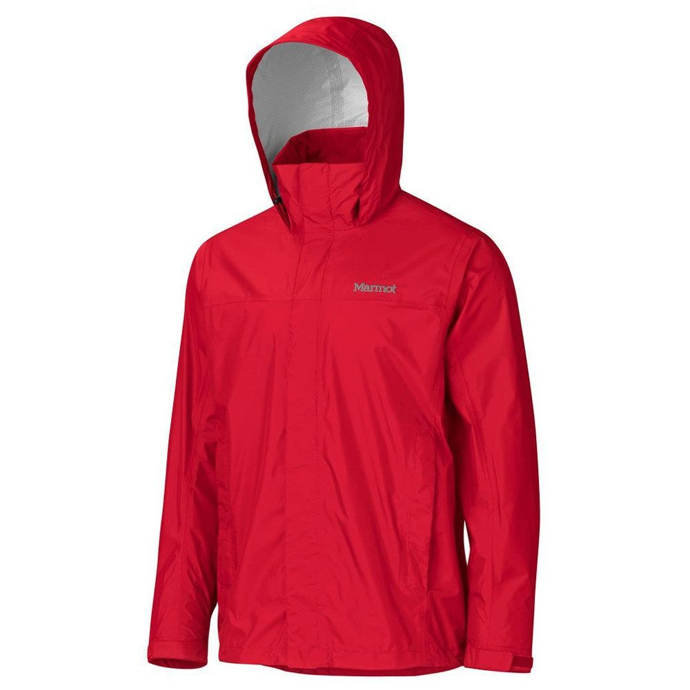 marmot precip jacket sienna red