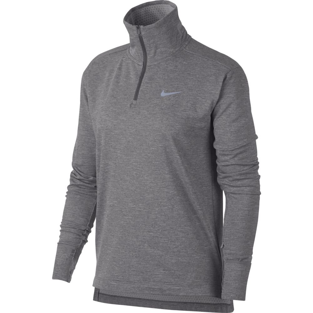 nike therma-sphere half-zip top w szara