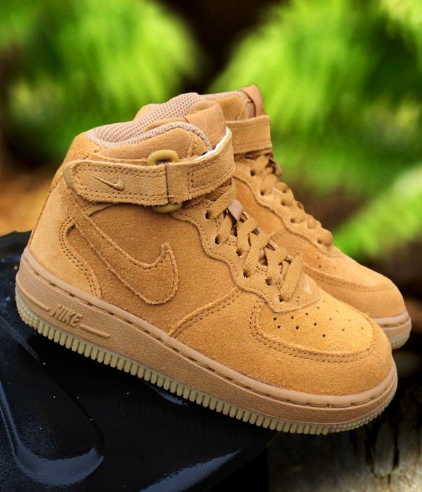 nike force 1 mid lv8 (ps) brązowe