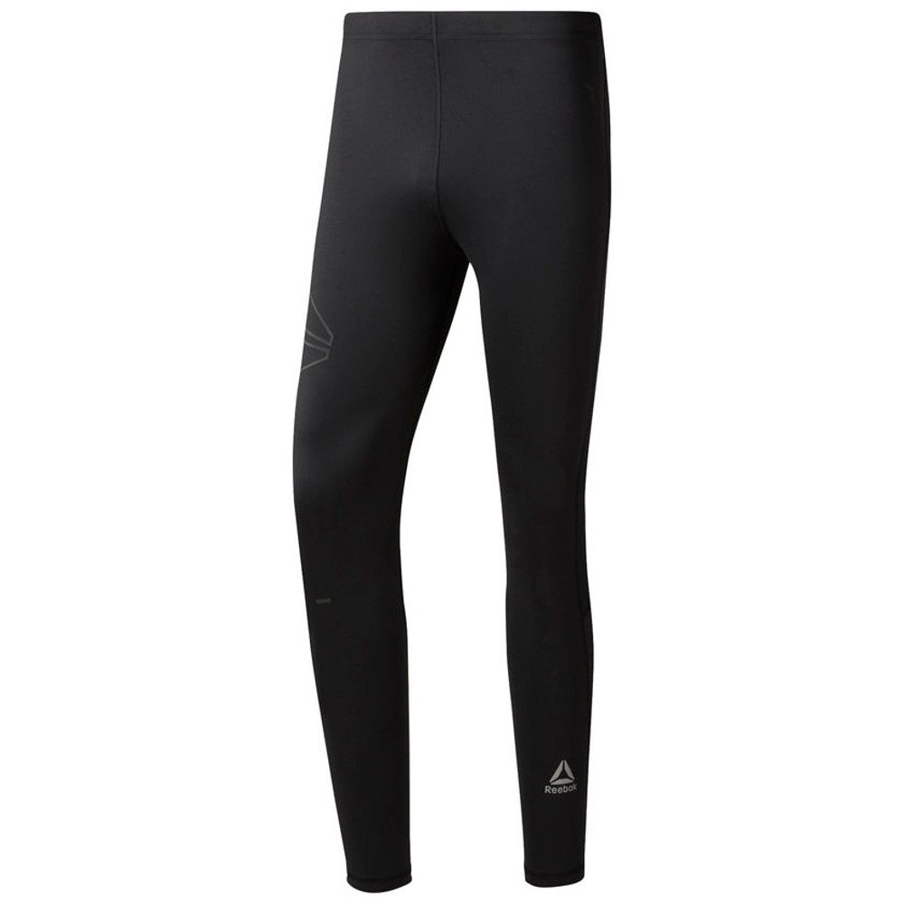 reebok running speedwick tights m czarne