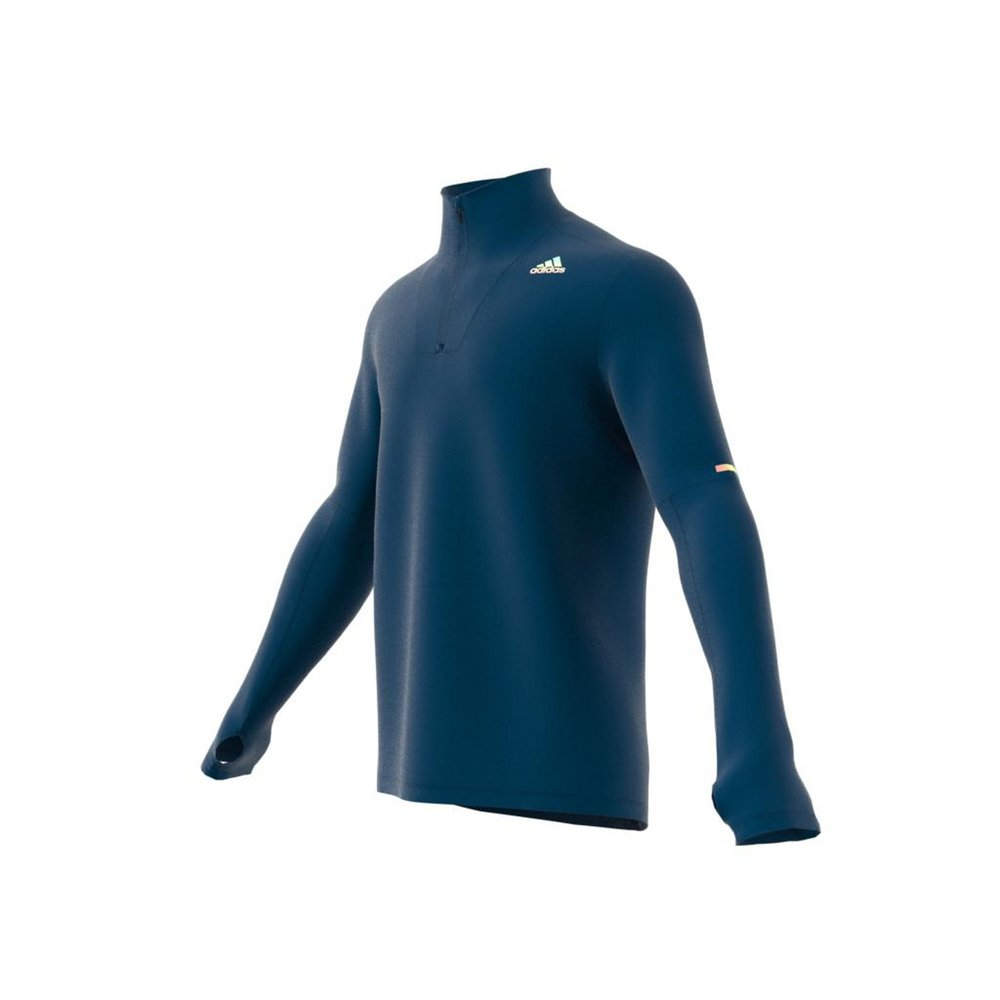 adidas supernova 1/4 zip tee legend marine