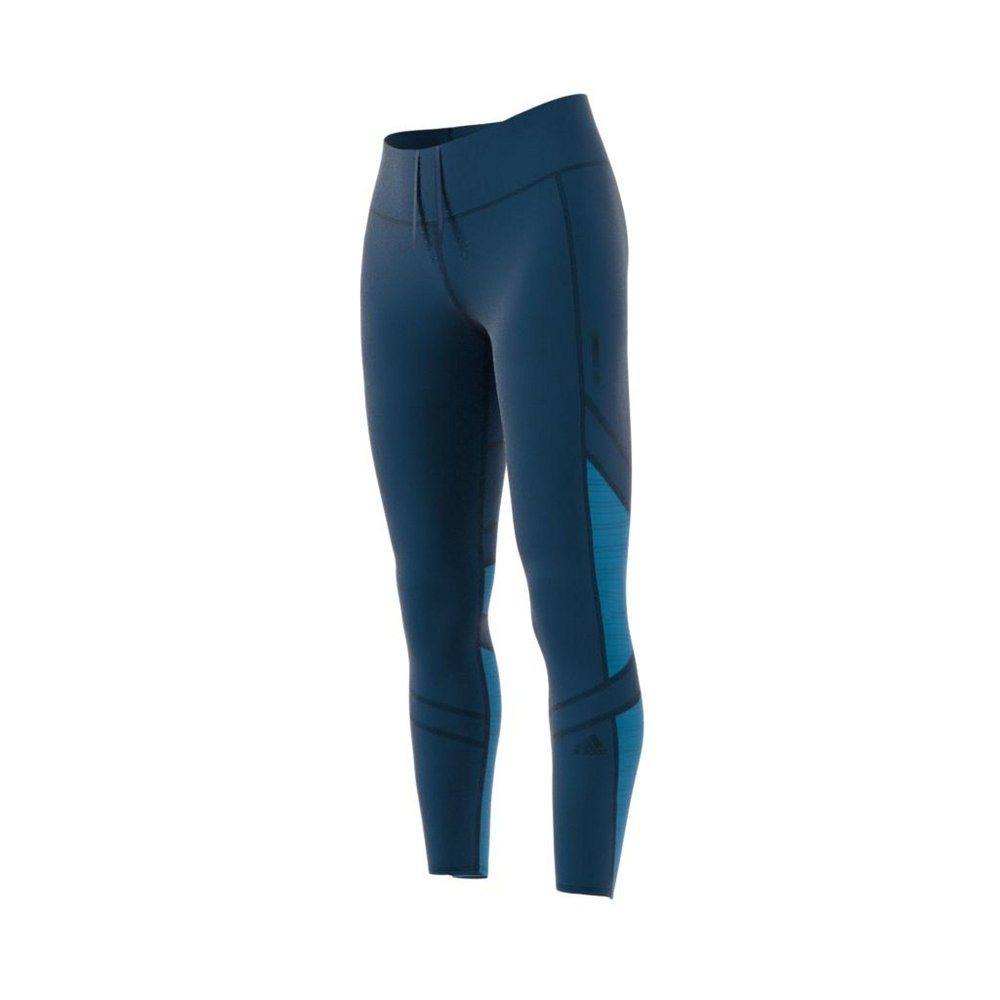 adidas how we do 7/8 light tights legend marine / shock cyan
