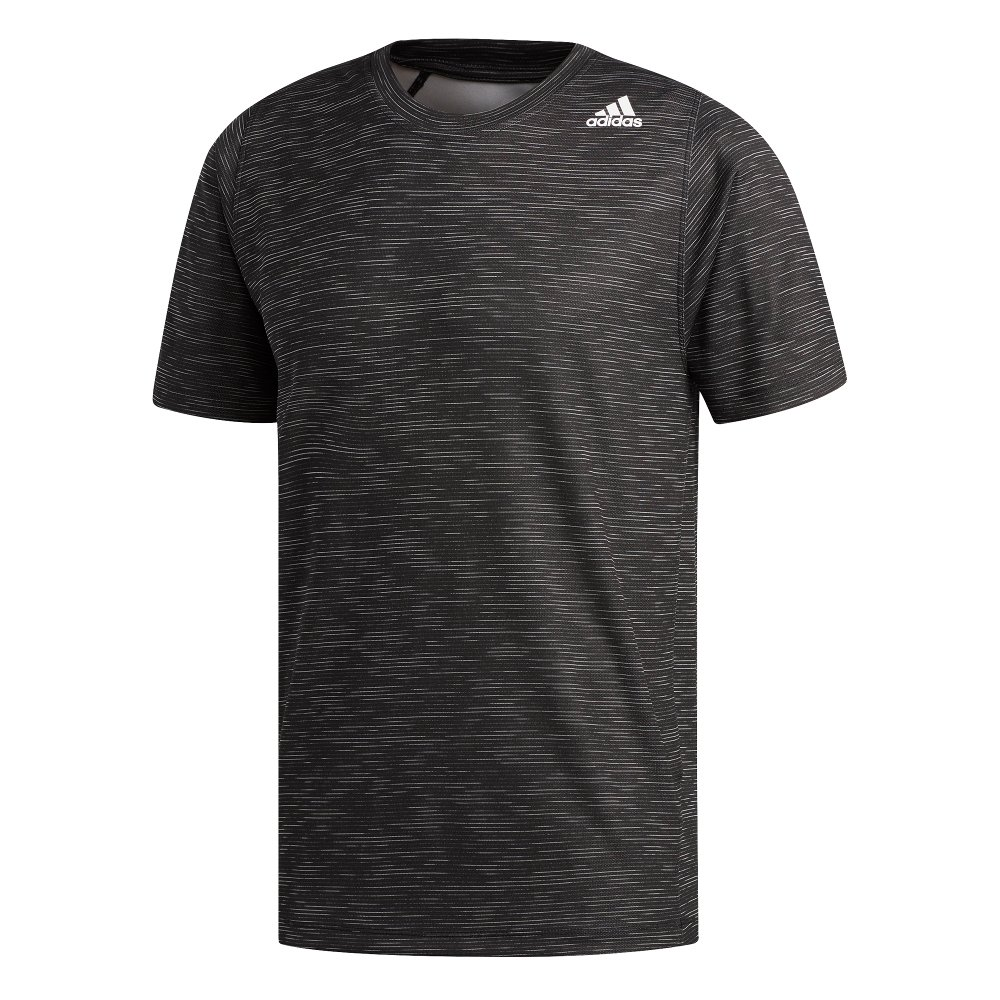 adidas frelift_tech fitted striped heather tee