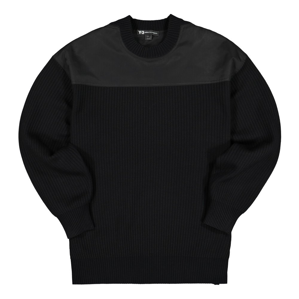 adidas y-3 nylon-knit crew sweater (fj0453)