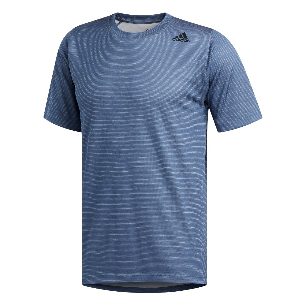 adidas freelift tech fitted striped heathered tee
