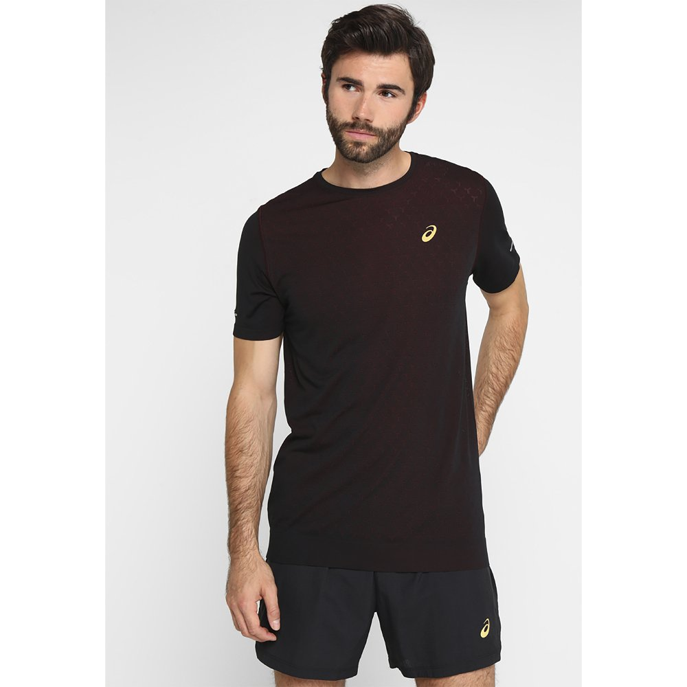 asics gel-cool short sleeve top black