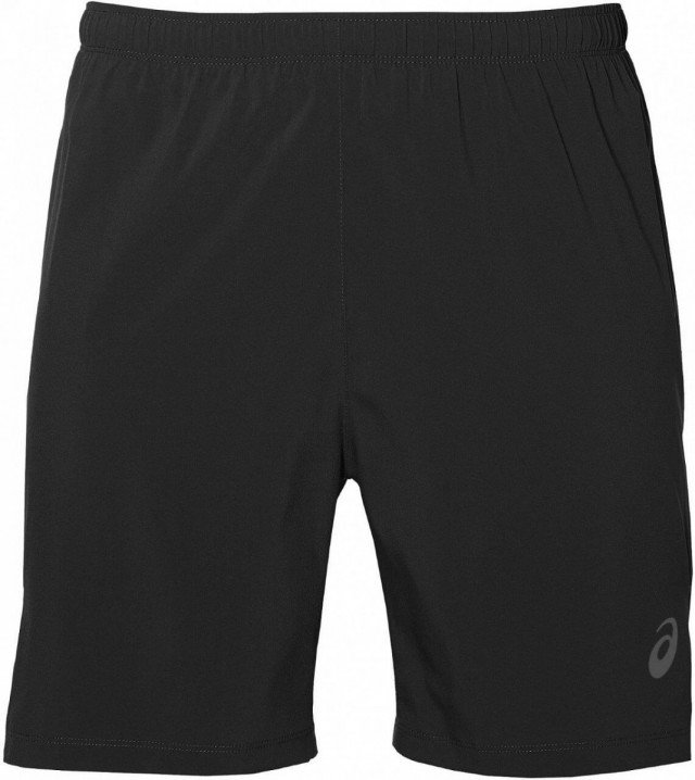 asics silver 7in 2in1 short black