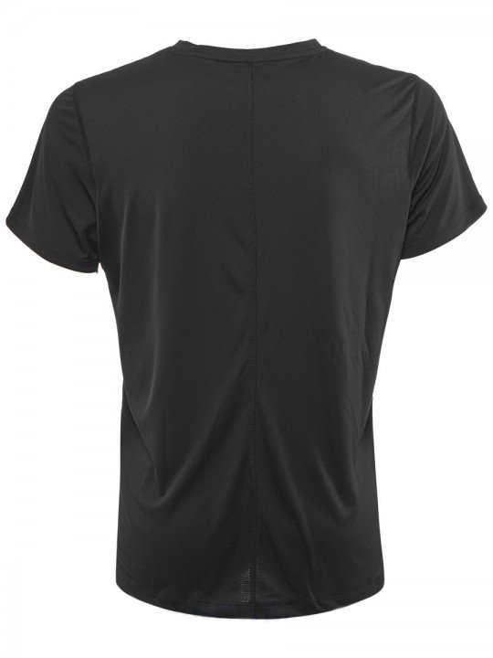 asics silver short sleeve top black