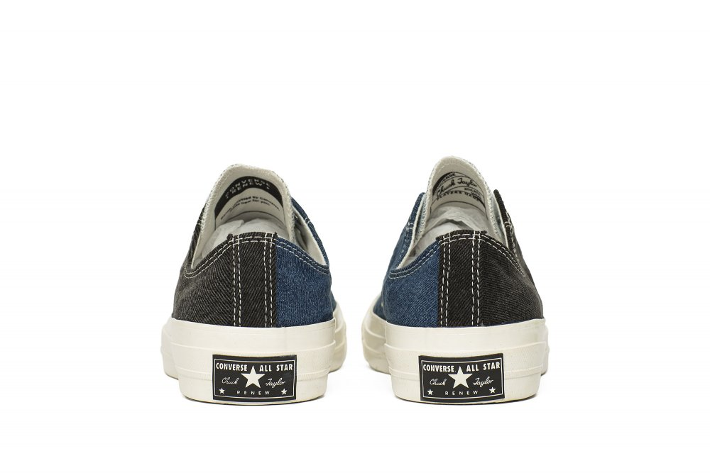converse renew denim tri-panel chuck 70 (166287c)