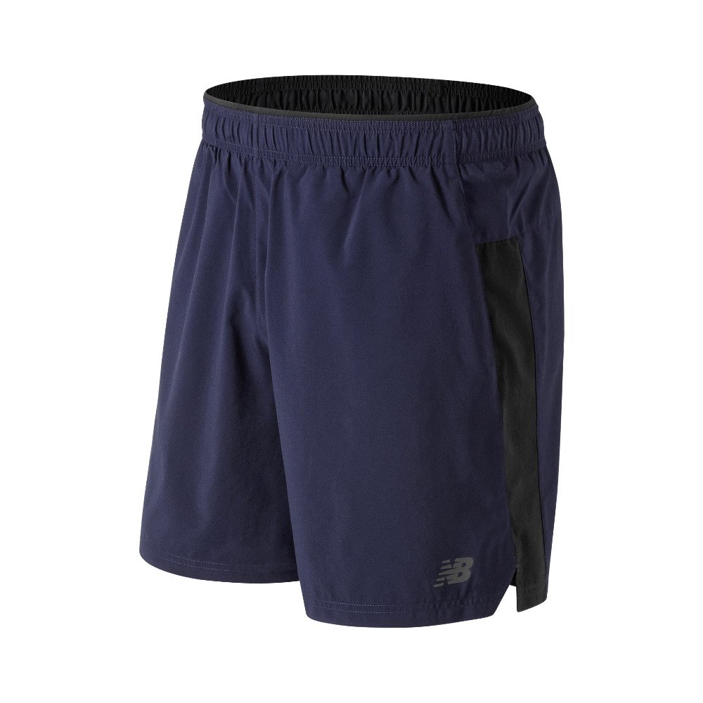 new balance core 2 in 1 woven 7 inch short m czarno-granatowe