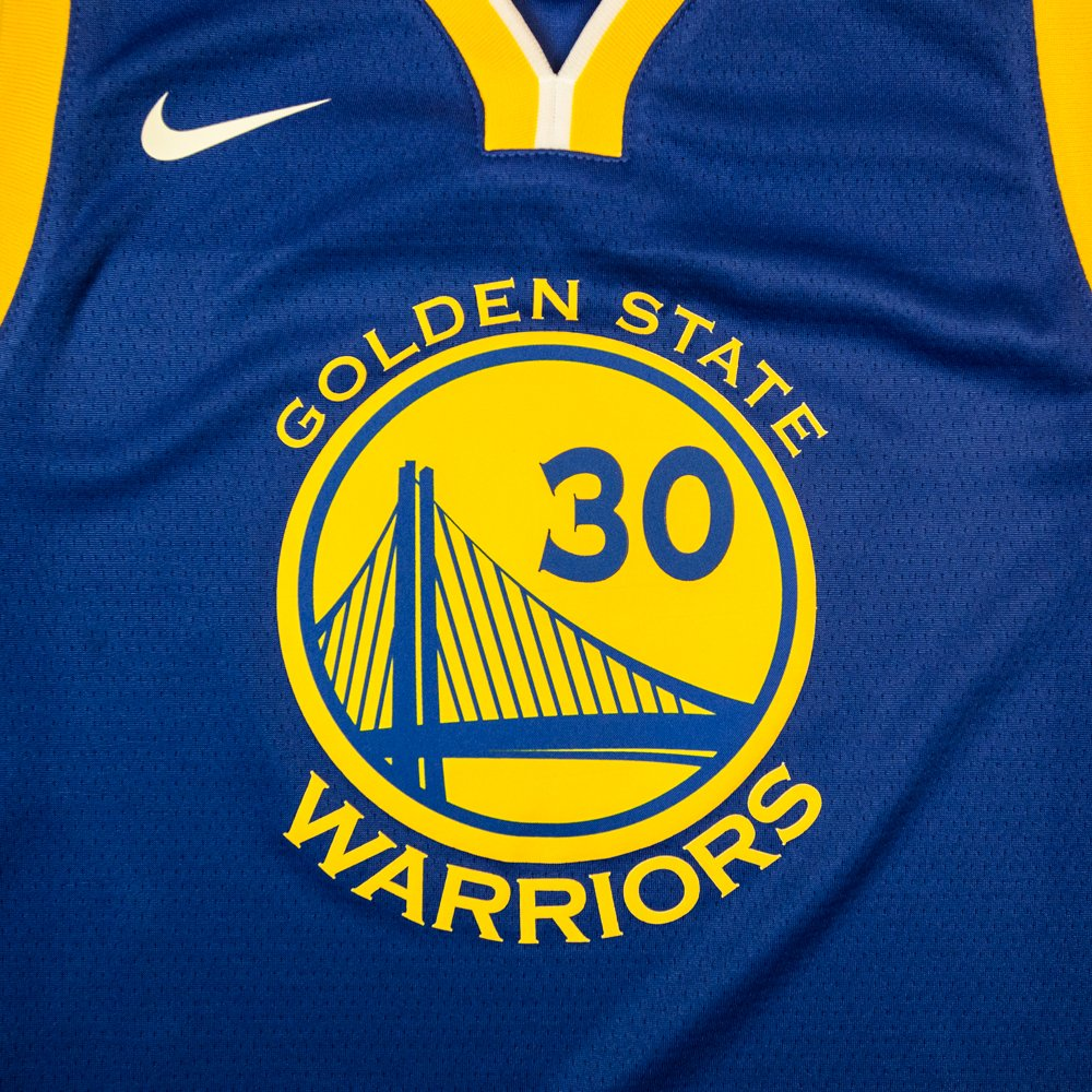 nike nba stephen curry golden state warriors icon edition swingman junior jersey (ez2b7bz2p-warsc)