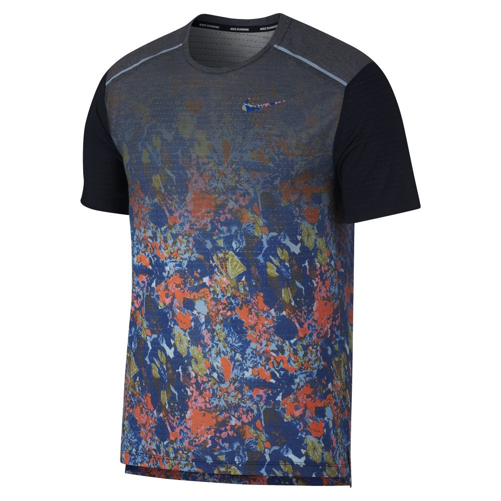nike rise 365 short-sleeve printed top m multikolor