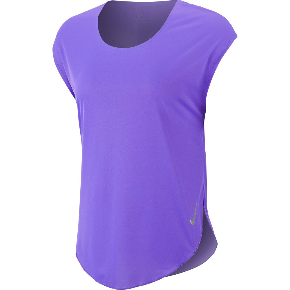 nike city sleek ss top w fioletowa
