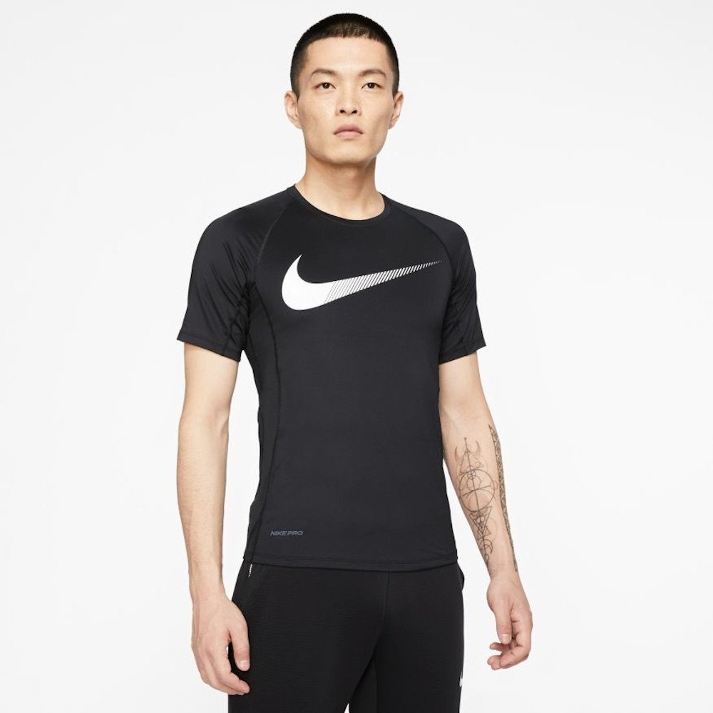 nike pro short-sleeve graphic top m czarna