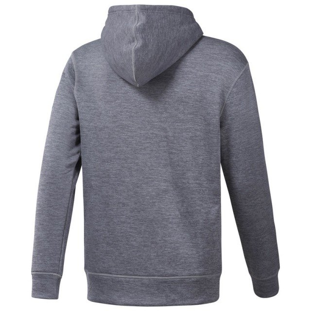 reebok workout thermowarm hoodie medium grey heather