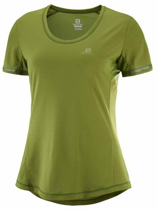 salomon agile short sleeve tee avocado