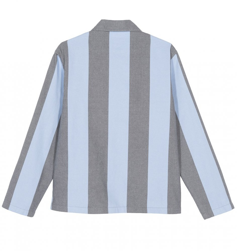 kurtka damska stussy etta striped coach jacket
