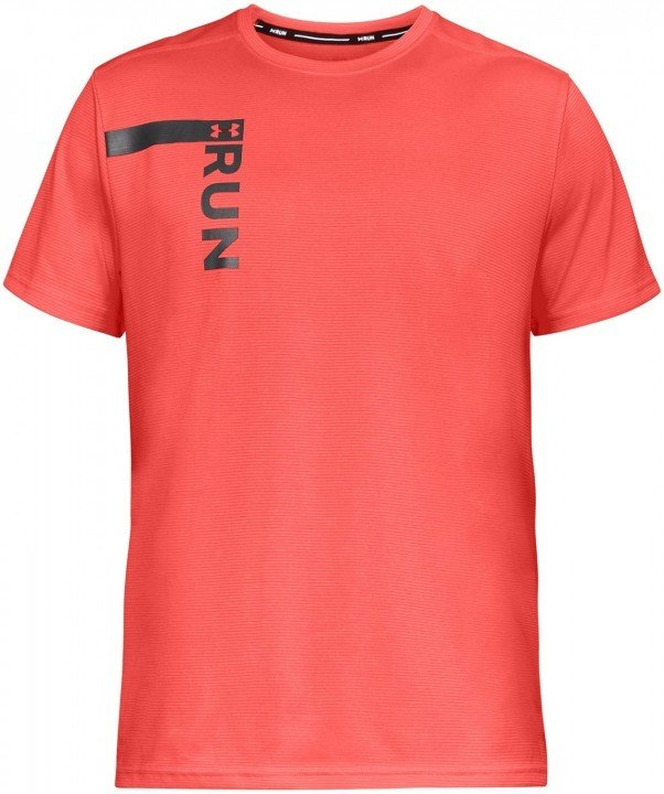under armour ua run tall graphic short sleeve red