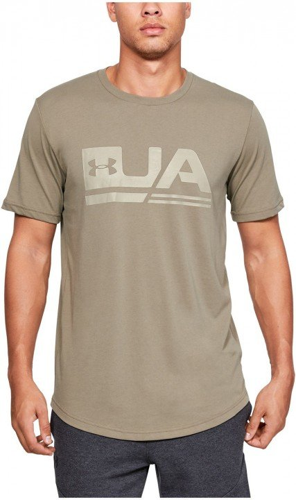 under armour ua sportstyle ss drop hem brown