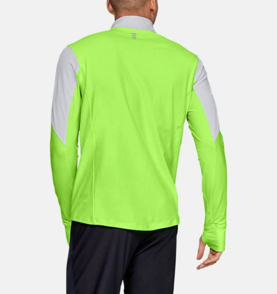 under armour qualifier half zip m zielono-szary