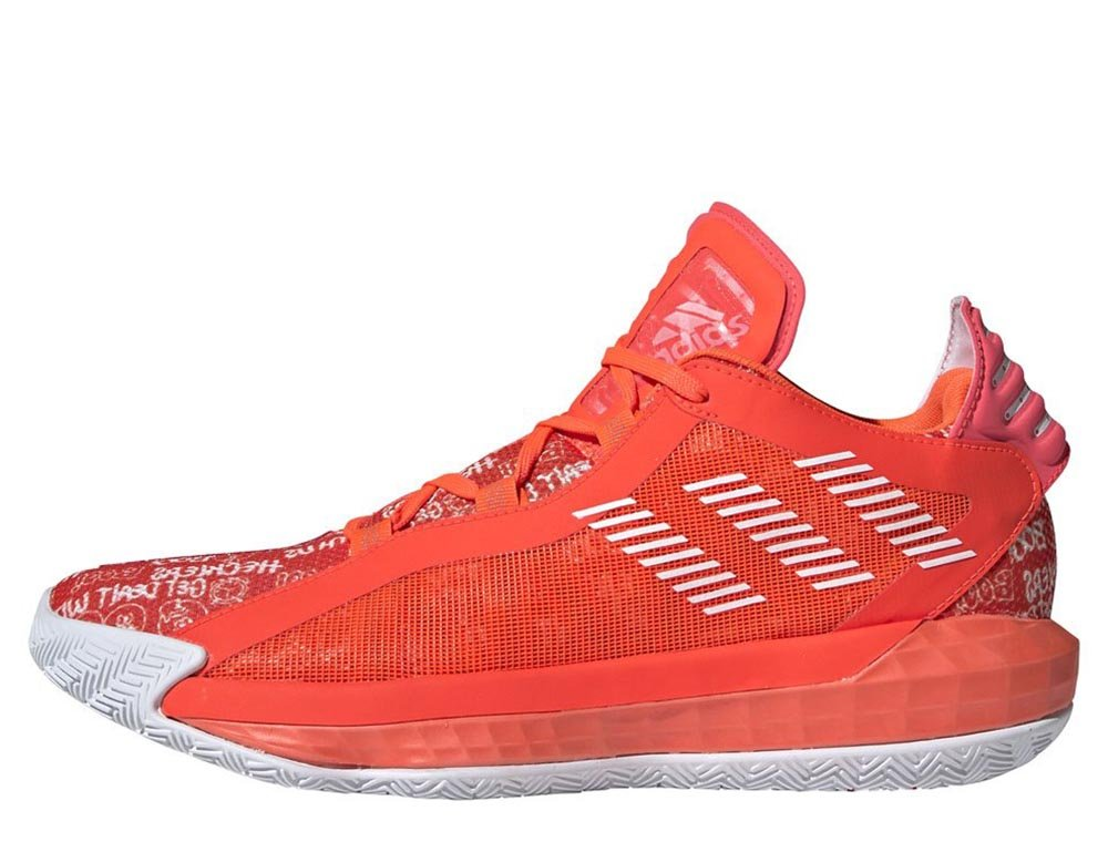 "adidas dame 6 ""solar red"""