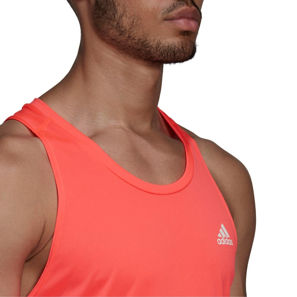 adidas own the run 3-stripes pb singlet m pomarańczowa